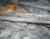 Liquid silver Handspun silky soft Yarn