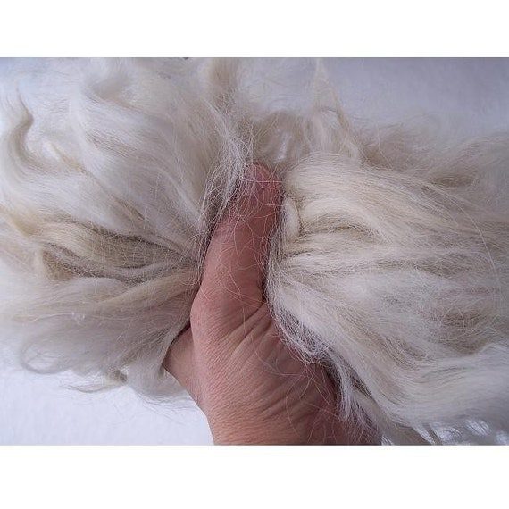 9- inch Washed Combed Conditioned Suri Aplaca DOLL HAIR - 1 oz