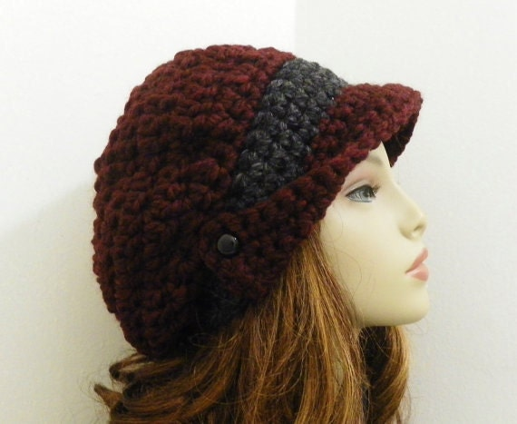 Crochet Slouchy Hat With Brim Pattern Pattern Only Brimmed Crochet