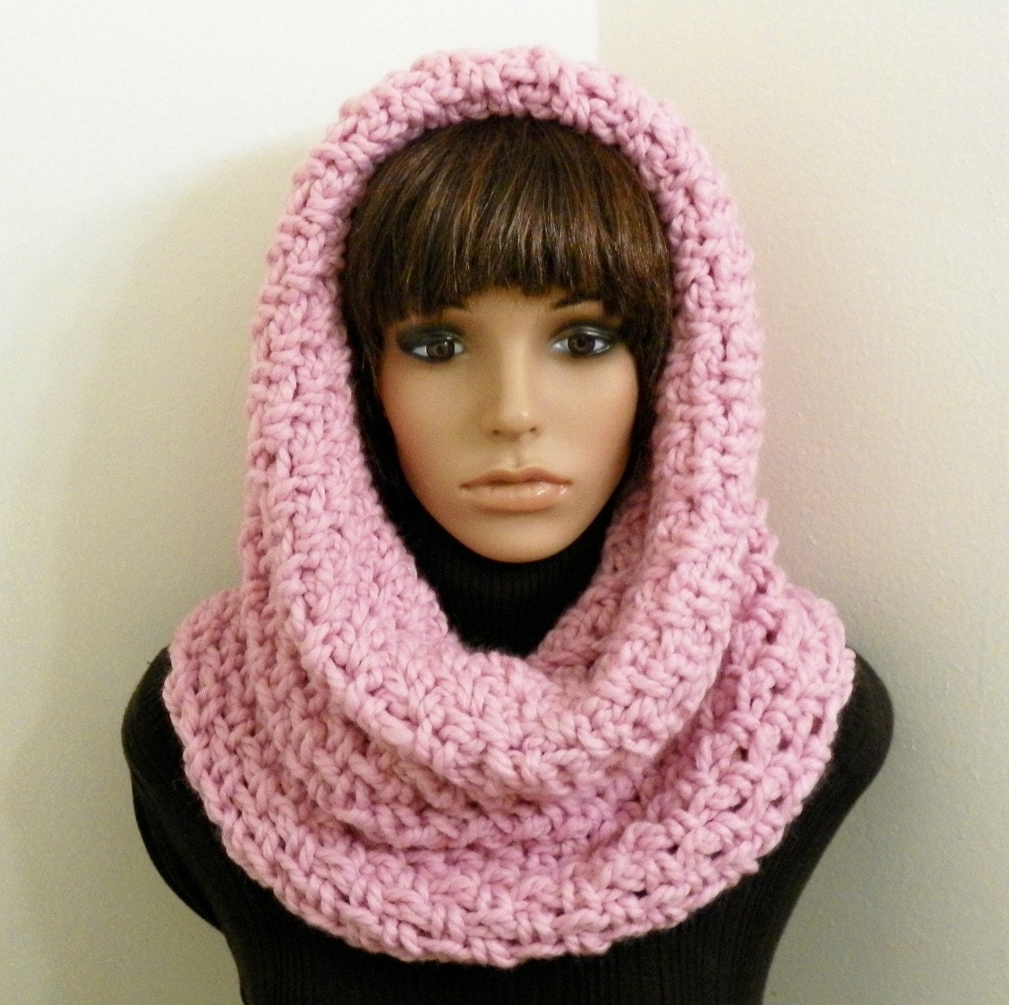 PDF Crochet Pattern for Chunky Tunnel Cowl/Hood by HandmadeCottage