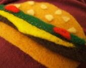 A healthier hamburger brooch