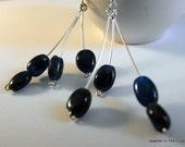 Blue Earrings - Blue Apatite Dangles on Silver