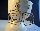 Gold Earrings, Abstract Gold Filled Hammered Earrings, earrings gold, under 30 dollars