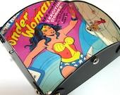 Wonder Woman Vintage Record Album  (1977) Repurposed into Valet Tray, Jewelry Tray, Dresser Tray