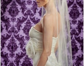 NEW 42 Inch Lovely HALF Lace Wedding Veil