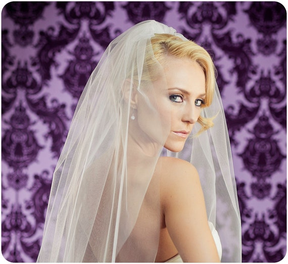 42 Inch Little Something Wedding Veil with a 34 Inch Blusher