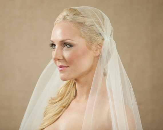 NEW 75 Inch Bridal Cap Wedding Veil with a 34 Inch Blusher