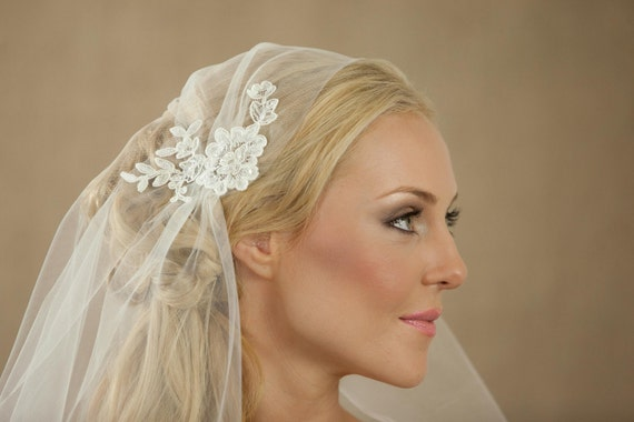 NEW 75 Inch Rosa Lace Bridal Cap Wedding Veil