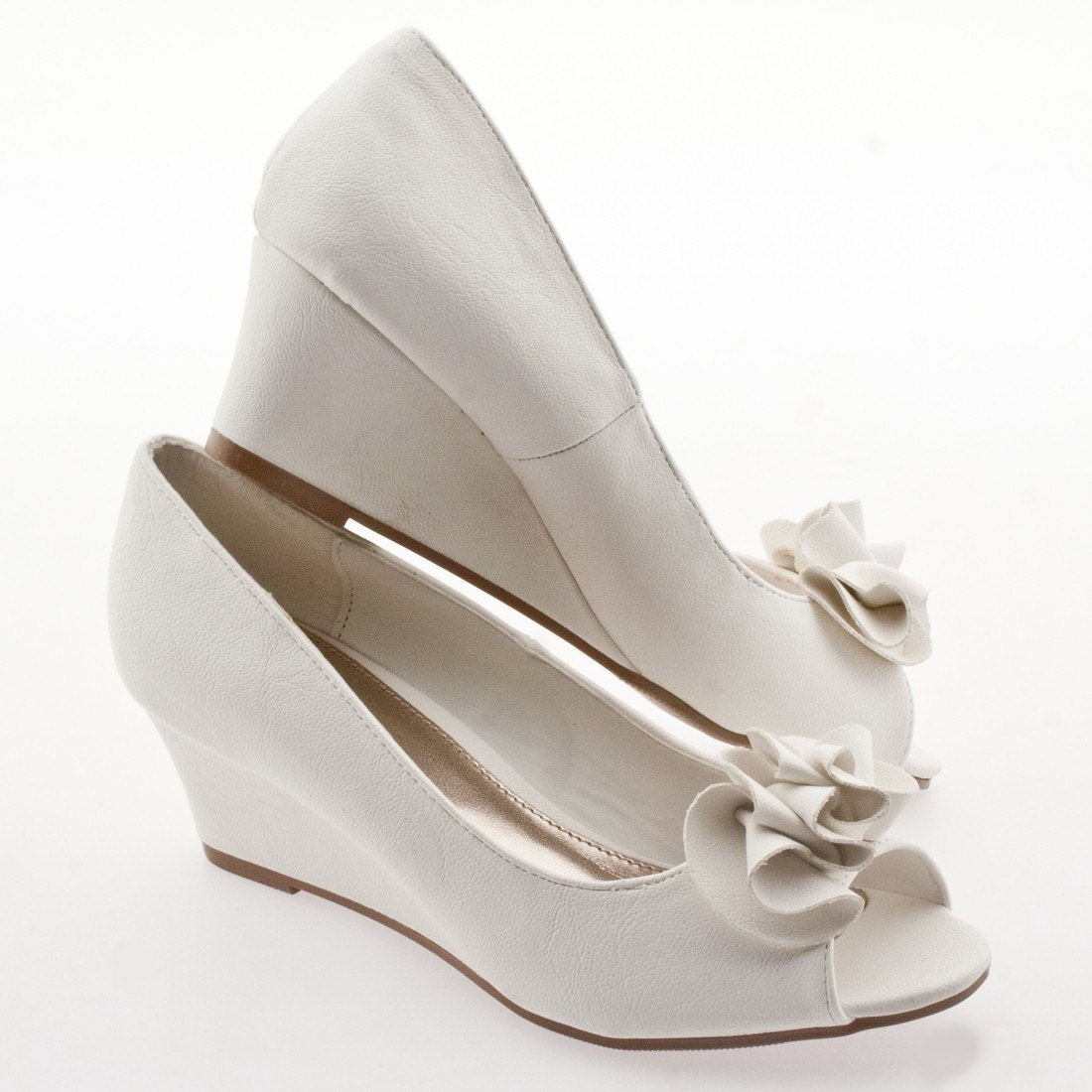 The Perfect Bridal Wedge Shoe
