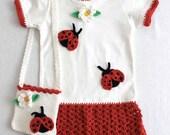 Ladybug T-shirt Dress and Purse Pattern PDF