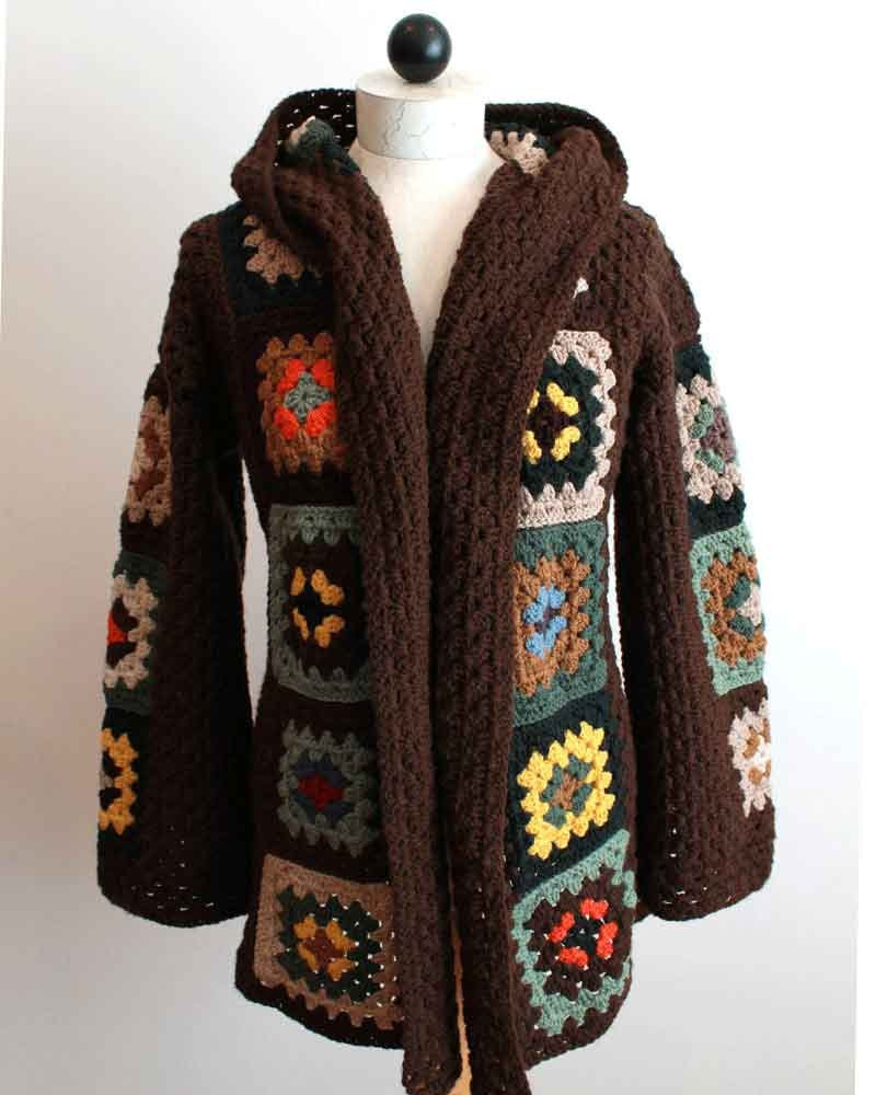 Scrap Granny Hooded Jacket Pattern PDF