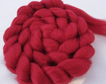 Bamboo Top, spinning fiber, ruby red, rayon, 4.0 oz.