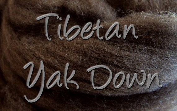 Tibetan Yak Down, spinning fiber, undyed, natural, dark brown, 1 oz., larger quantities are available upon request