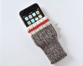 Hand Knit iPhone 6 Plus and iPhone 6s Plus Sock Monkey Sock Cozy Case