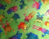 Cotton Print Fabric -- Froggy -- Reserved for Debra Quinn