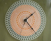 SALE - doily clock