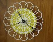 SALE - small doily clock