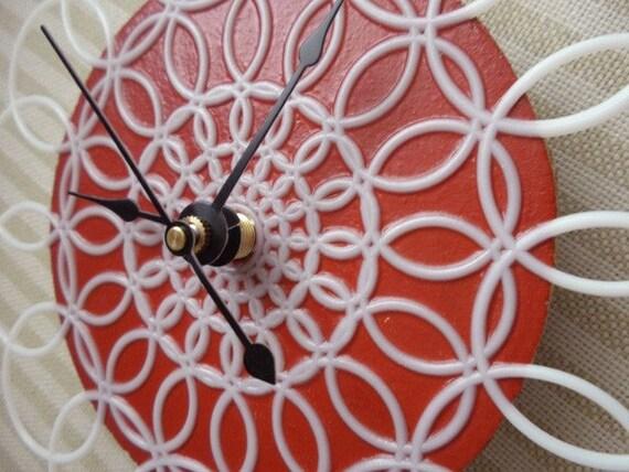 doily clock -small wall clock
