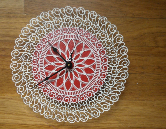 SALE - doily clock