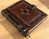 The Book, Brown Vintage Leather Journal with Lock and Key