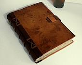 Vintage Leather Journal / Antiqued Blank Book - There Was a Time