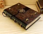 Large Leather Journal with Lock, The Brown Book