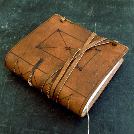 A Little Medieval, Natural Brown Leather Journal
