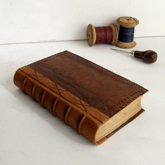 Handmade Leather Journal, Brown Vintage Leather - RESERVED