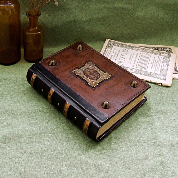 Leather Journal / Blank Book, Brown Vintage Leather - Magick