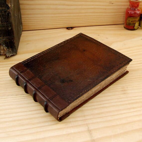 Handmade Leather Journal, Brown Vintage Leather