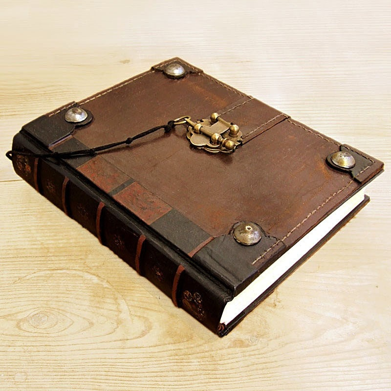 Old Leather Journal With Key The Book Brown Vintage...