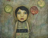Original Mixed Media Collage Painting by Lisa Lectura
