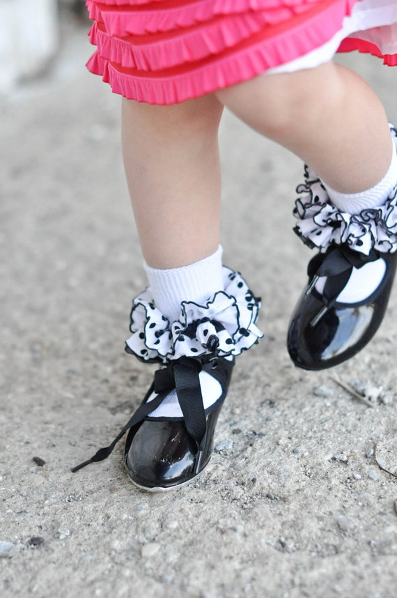 Polka Dot Ruffle Ankle Socks other colors available