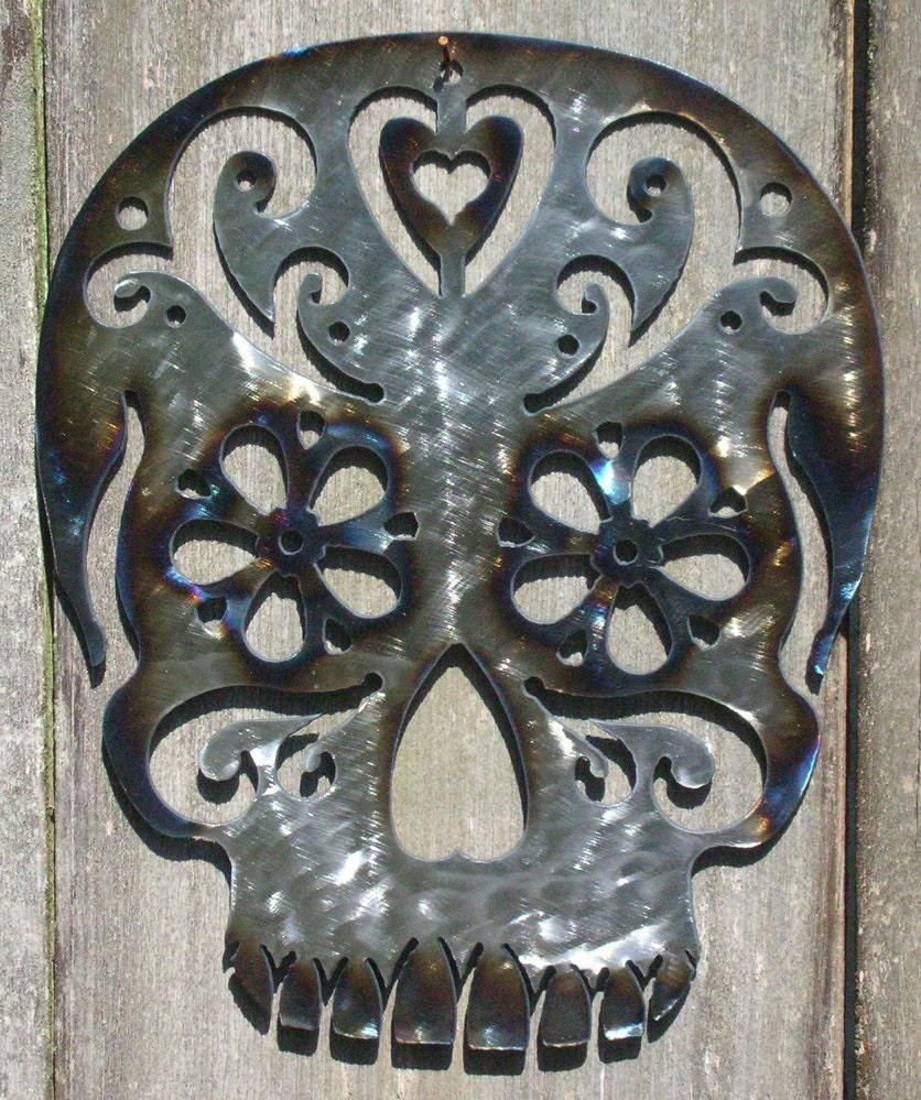 Metal Sugar Skull Wall Art By Alternativedesigns On Etsy