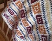 Hand knitted baby blanket. Baby blanket. Stroller blanket.  Car seat blanket. Gift for newborn. Baby shower gift. OOAK. Ready to ship.