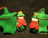 Holly Baby Miniature Felt Ornament