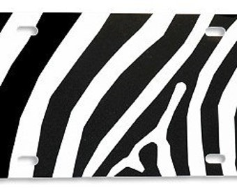 Plastic License Plate Blanks - 6in x 12in -Zebra -assortment of colors
