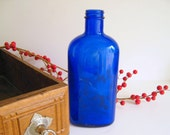 Vintage Cobalt Blue Bottle by RollingHillsVintage on Etsy