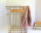 Metal Egg Crate Orange Chippy Rusty Storage Jones Egg Ranch California Basket Farmhouse Rustic RollingHillsVintage