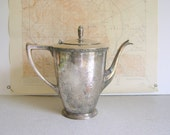 Vintage Silver Plated Teapot Cottage Chic by RollingHillsVintage on Etsy