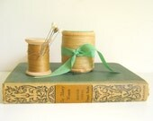Antique Book Women Vintage Thread Spools Home Decor by RollingHillsVintage