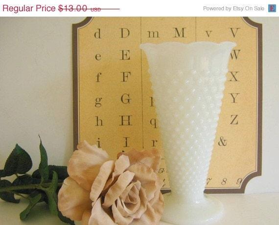 Vintage Milk Glass Hobnail Vase by RollingHillsVintage on Etsy