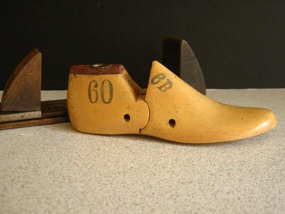 Antique Shoe Last Form Natural Wood