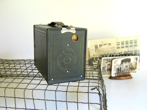 Antique Kodak Brownie No. 2 Box Camera Model F