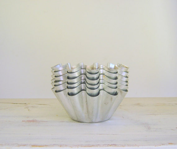 Aluminum Tart Pans Soap Molds Vintage Metallic