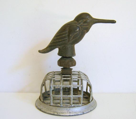 Vintage Water Faucet Oxidized Bird Key