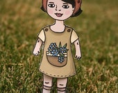 Paper Doll set - Spring Love theme - Play dress up with fashion accessories for children