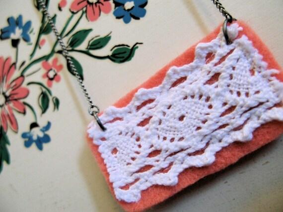 Blush Lace Necklace
