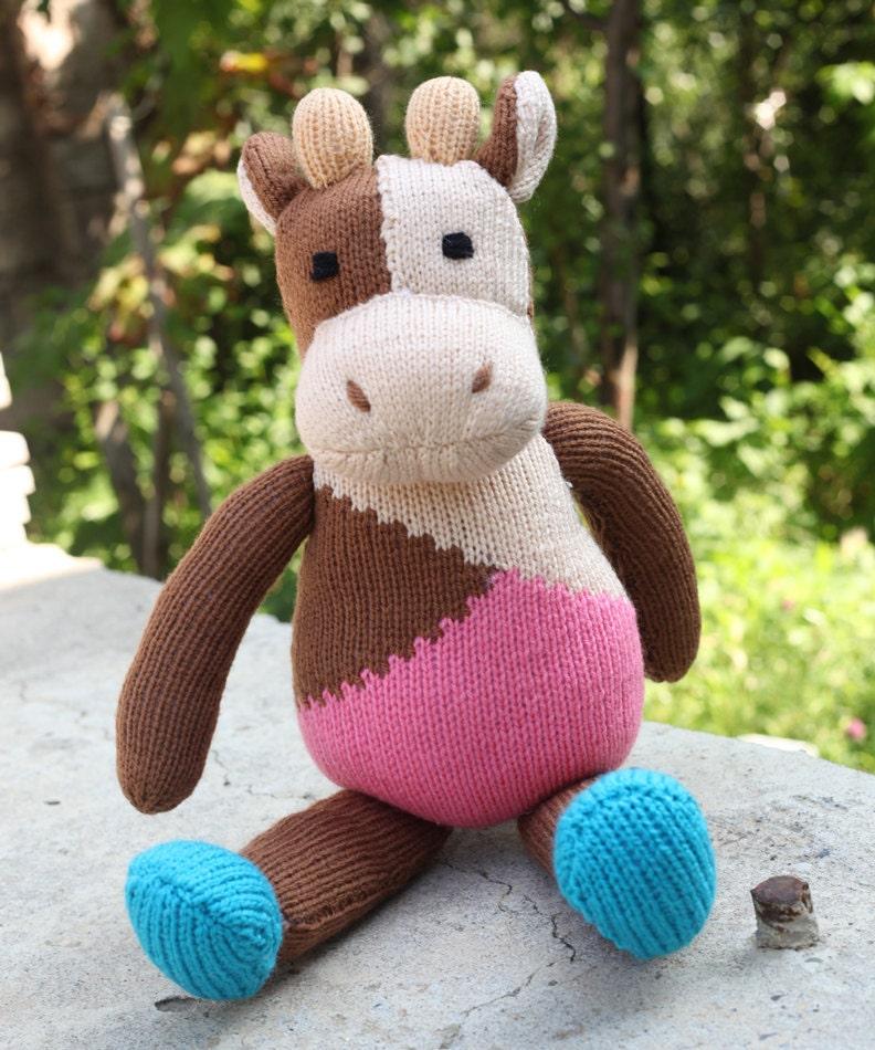 Lamazo Cow Toy Knitting Pattern PDF