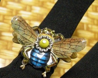 Bee Jewelry, Honey Bee Ring, Bumble Bee, Bee Ring, Bee Lover, Gift for Bee Keeper Bee Lover Ring